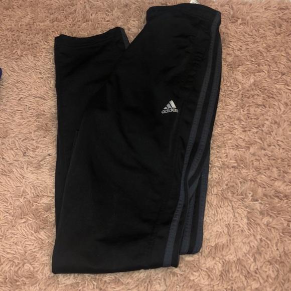 adidas Pants - Adidas track pant- grey stripe